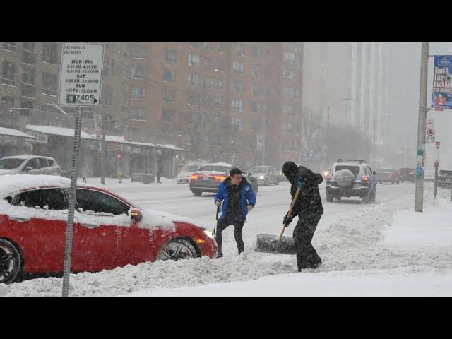 Winter Snow Storm in Toronto Canada