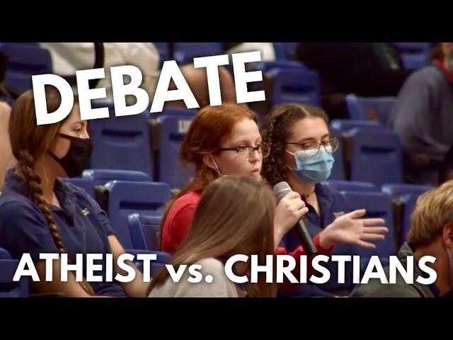 Atheist Debates Christian Students, Then Reveals True Identity