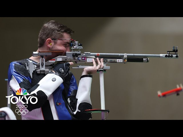 USA's Will Shaner wins gold in 10m air rifle, sets Olympic record | Tokyo Olympics | NBC Sports