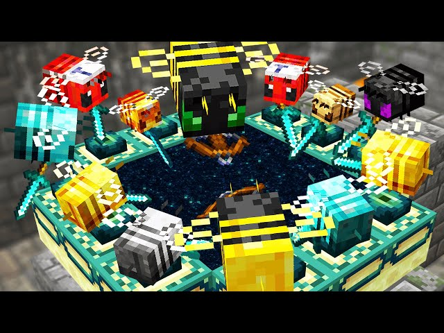 Minecraft but Bees Beat the game for you