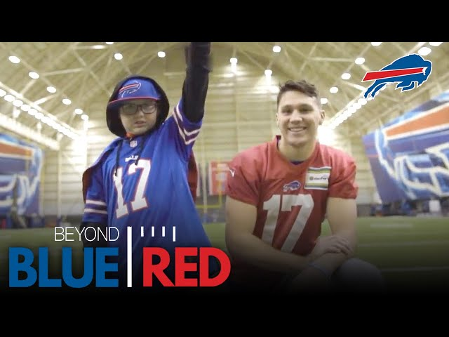 Josh Allen Finds Inspiration from 12-Year-Old Super Cade | Beyond Blue & Red