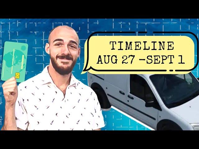 Brian Laundrie's Timeline - Hitching Rides, Stolen Van & Stolen Money - Aug 27 - Sept 1