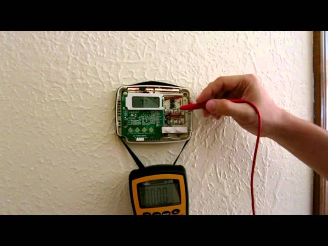 Wiring and troubleshooting Thermostat - heat cold air condition AC howto HVAC wiring furnace