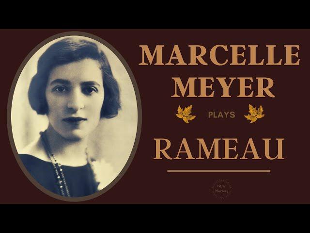 Rameau by Marcelle Meyer - Les Sauvages, Les Oiseaux / Presentat° Alexandre Tharaud (Century's rec.)