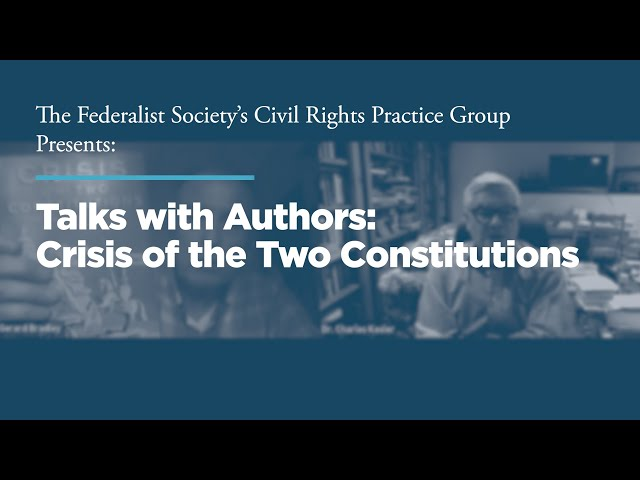 Talks with Authors: Crisis of the Two Constitutions