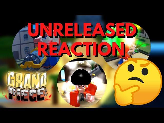 Reacting To Unreleased Sneak Peaks For Grand Piece Online
