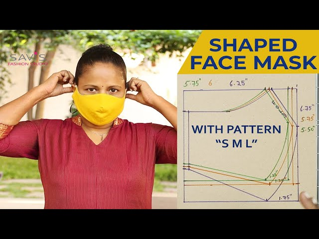 Class 68 - How to sew REUSABLE FABRIC FACE MASK at home - Beginners DIY/ Small, Medium, Large sizes