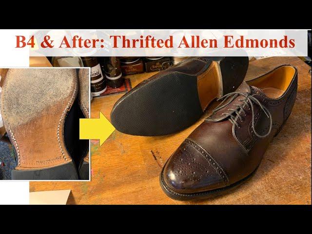 Before & After: Thrifted Allen Edmonds Sanford Derby