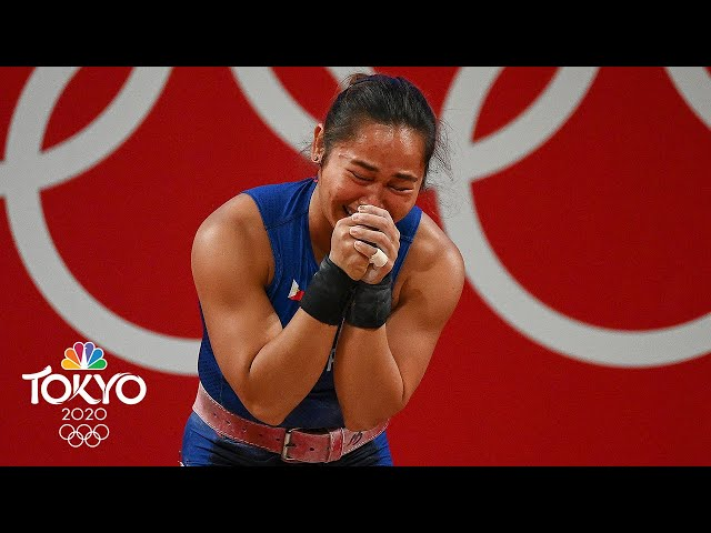 Hidilyn Diaz wins the Philippines' first-ever Olympic gold medal   Tokyo Olympics   NBC Sports