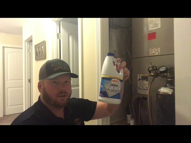 How to clean an HVAC drain line.