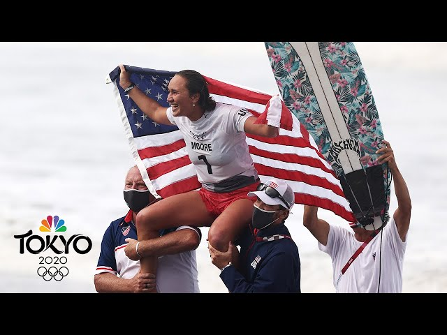 American Carissa Moore is the FIRST Olympic women's surfing champ | Tokyo Olympics | NBC Sports