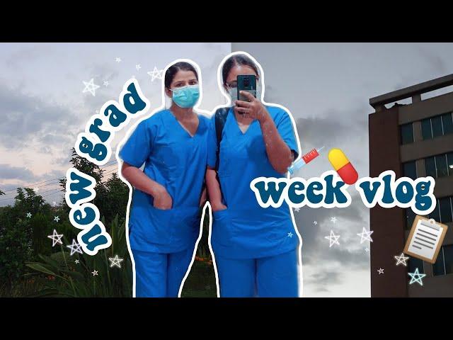 [vlog] 🏩getting a job, induction classes & scrubs! | new grad nurse week