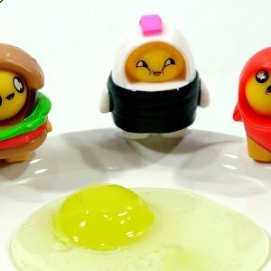 Redwood Ventures Foodie Surprise Yolkies Surprise Egg-figures w//slime candy