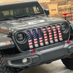 Rust Proof Aluminum Fits Jeep Wrangler JK Under the Sun Inserts Jeep Wrangler Front Grille Insert Distressed Old Glory