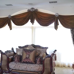 luxurious window treatments with