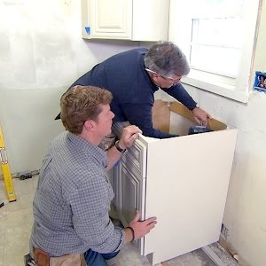 How To Install Kitchen Cabinets The Home Depot With This Old House Youtube