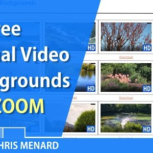 Zoom 25 Free Virtual Video Backgrounds By Chris Menard Youtube