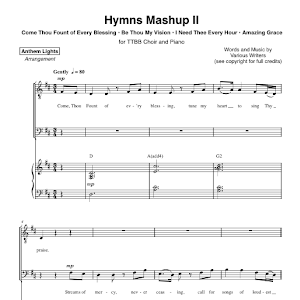 anthem lights hymns medley sheet music