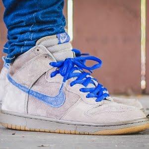 Nike Dunk SB High Iron On Feet Sneaker