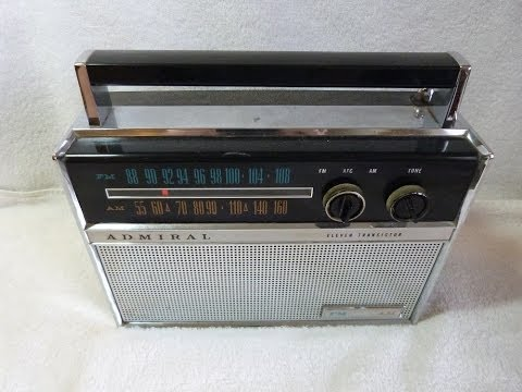 1962 Admiral Y2371 AM/FM transistor radio (made in the United States)