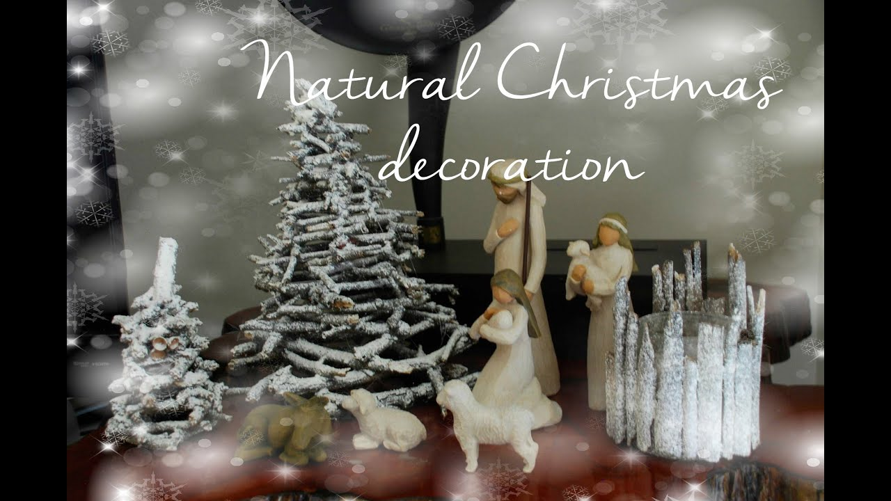 Diy natural christmas nativity scene decoration ideas Natural decorating