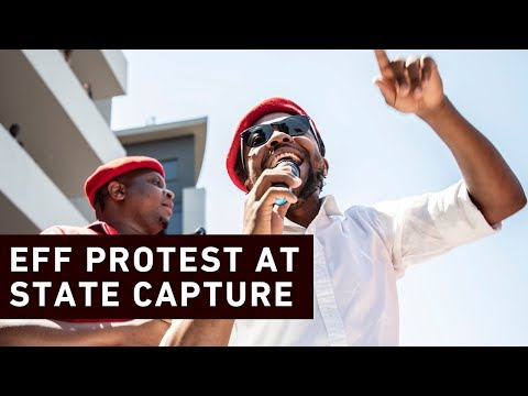 EFF protests outside State Capture Inquiry