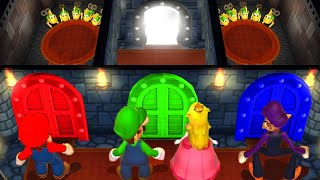 Mario Party 9 MiniGames Luigi Vs Peach Vs Mario Vs Waluigi (Master Difficulty)