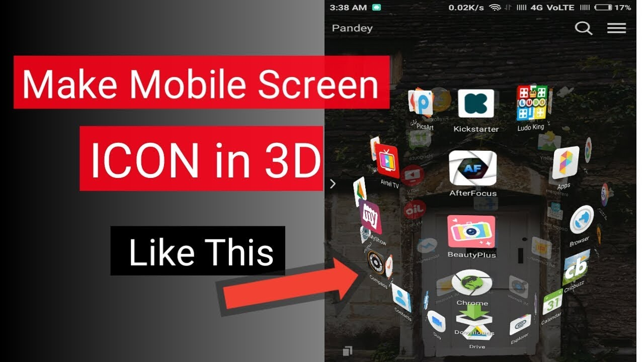How to Create mobile screen 3D || ANDROID MENU FOR PHONE ||