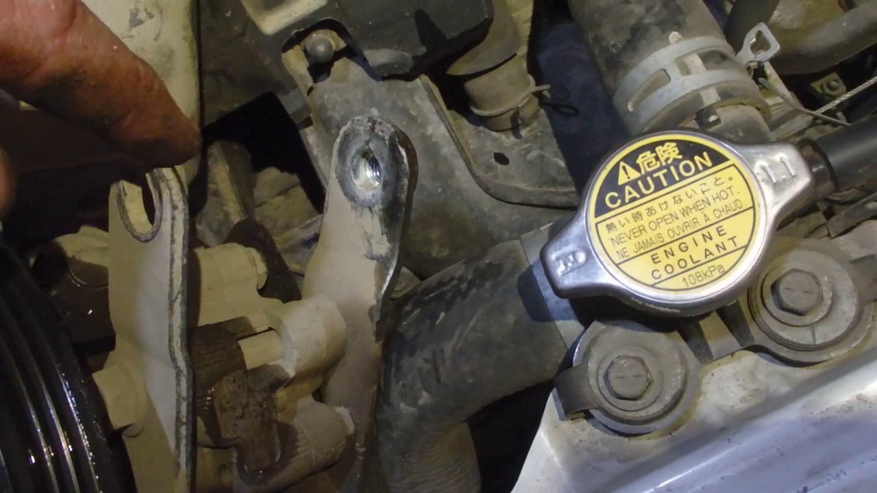 Замена насоса ГУР на моторе 1NZ Тойота Саксид/Пробокс