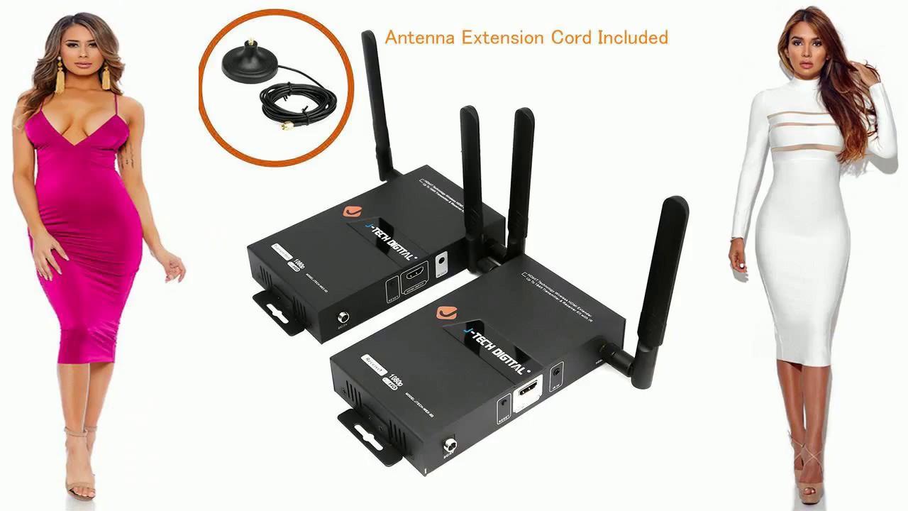 J-Tech Digital HDbitT Series 1X2 Wireless HDMI Extender//Adapter//Dongle up to ...