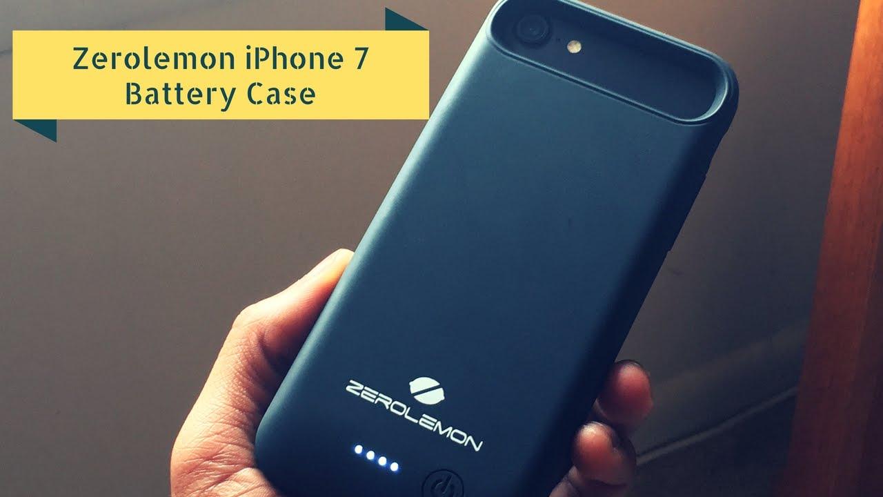 sale retailer e5bad 6fbd9 Zerolemon iPhone 7 Battery Case [4,000mAh]