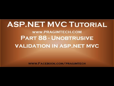 Part 88   Unobtrusive validation in asp net mvc