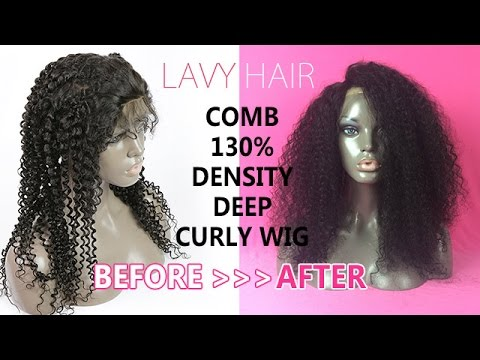 how to the lavy hair indian deep curly wig easy