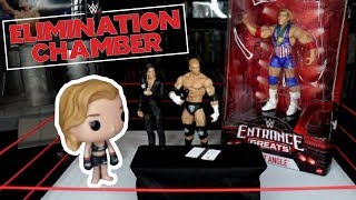 Ronda Rousey Puts Triple H THROUGH A TABLE!!! | WWE Mattel Figure Fun | Elimination Chamber 2018