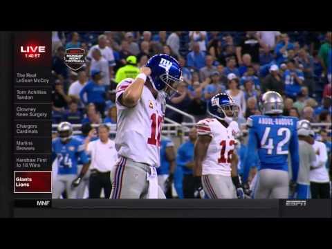 Detroit Lions vs. New York Giants Monday Night Highlights