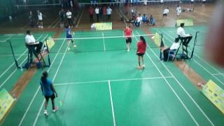 Saina and Sindhu doubles vrs Sikki Reddy and Aparna Balan at Kba Bangalore 9 th May 2017