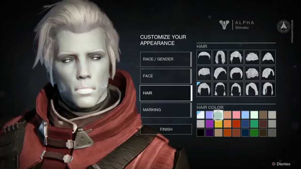 destiny ps4 character creation youtube