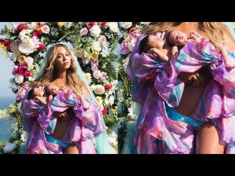 Download Youtube: Beyonce BREAKS Internet With Twins Pictures And Confirms Their Names!!