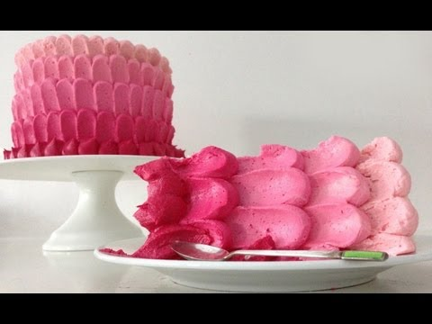 Ombre Cake HOW TO COOK THAT Easy Pink Ombre Ann Reardon