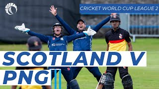 LIVE: Scotland v Papua New Guinea - Cricket World Cup League Two - Saturday 17th August