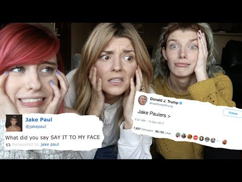 JAKE PAUL VS DONALD TRUMP TWEETS w/ GRACE HELBIG