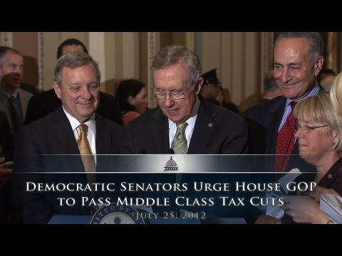 Democratic Senators Urge House GOP to Pass Middle Class Tax Cuts