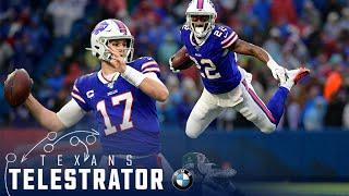 Breaking down the Buffalo Bills | Houston Texans Telestrator
