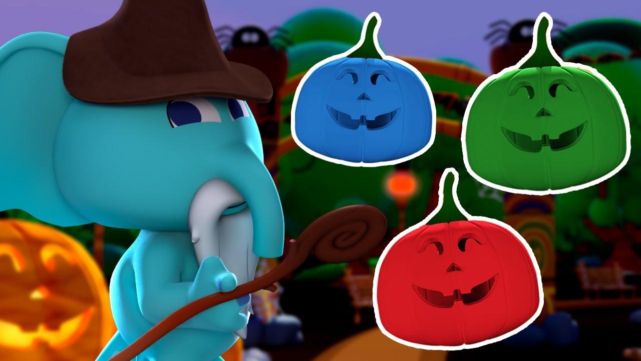 ¡Calabazas de colores de HALLOWEEN! 🎃 ¡El Elefante Blas Es Mago! 🎃| Canciones del Zoo