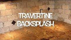 Travertine Tile Backsplash Installation: Matlock Construction