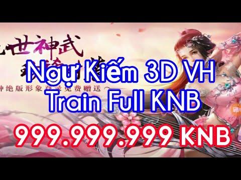 Game Lậu Mobile - Ngự Kiếm Mobile 3D Việt Hóa | Train Quái Rớt Full KNB Xài Thả Ga + 999.999.999 KNB