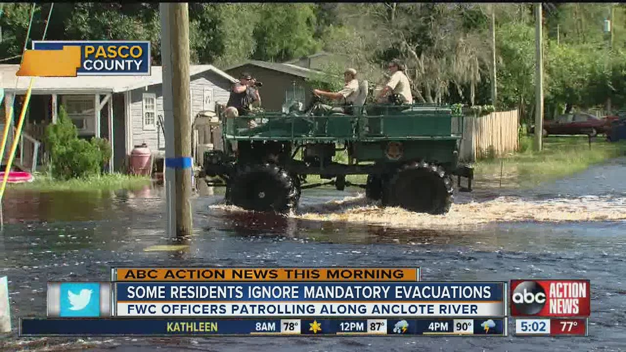 Mandatory evacuations in Pasco County due to flooding from Hermine