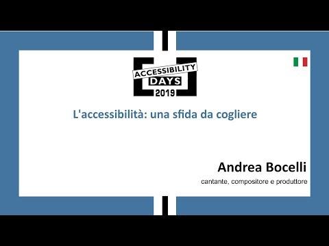L'accessibilità: una sfida da cogliere - Andrea Bocelli