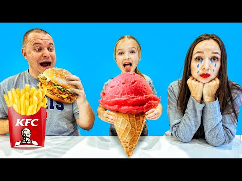KFC Против VIPS БИТВА БУРГЕРОВ ! КТО ОСТАНЕТСЯ ГОЛОДНЫМ ЧЕЛЛЕНДЖ VALENSIA LUCKY FAMILY 🍀