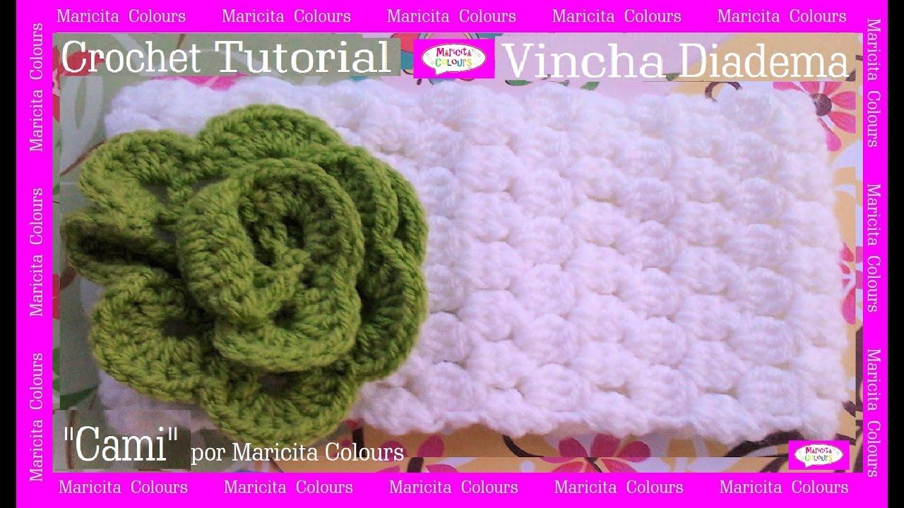Vincha Diadema A Crochet Cami Por Maricita Colours Tutorial Ganchillo You